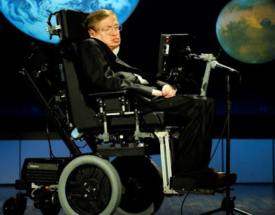 Stephen Hawking speaking last week