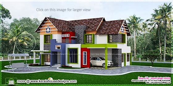 Colorful house design