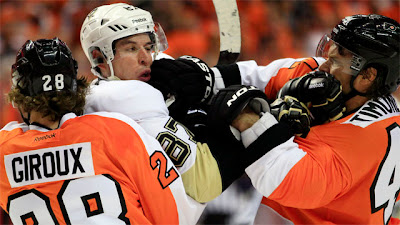 sidney crosby claude giroux fight