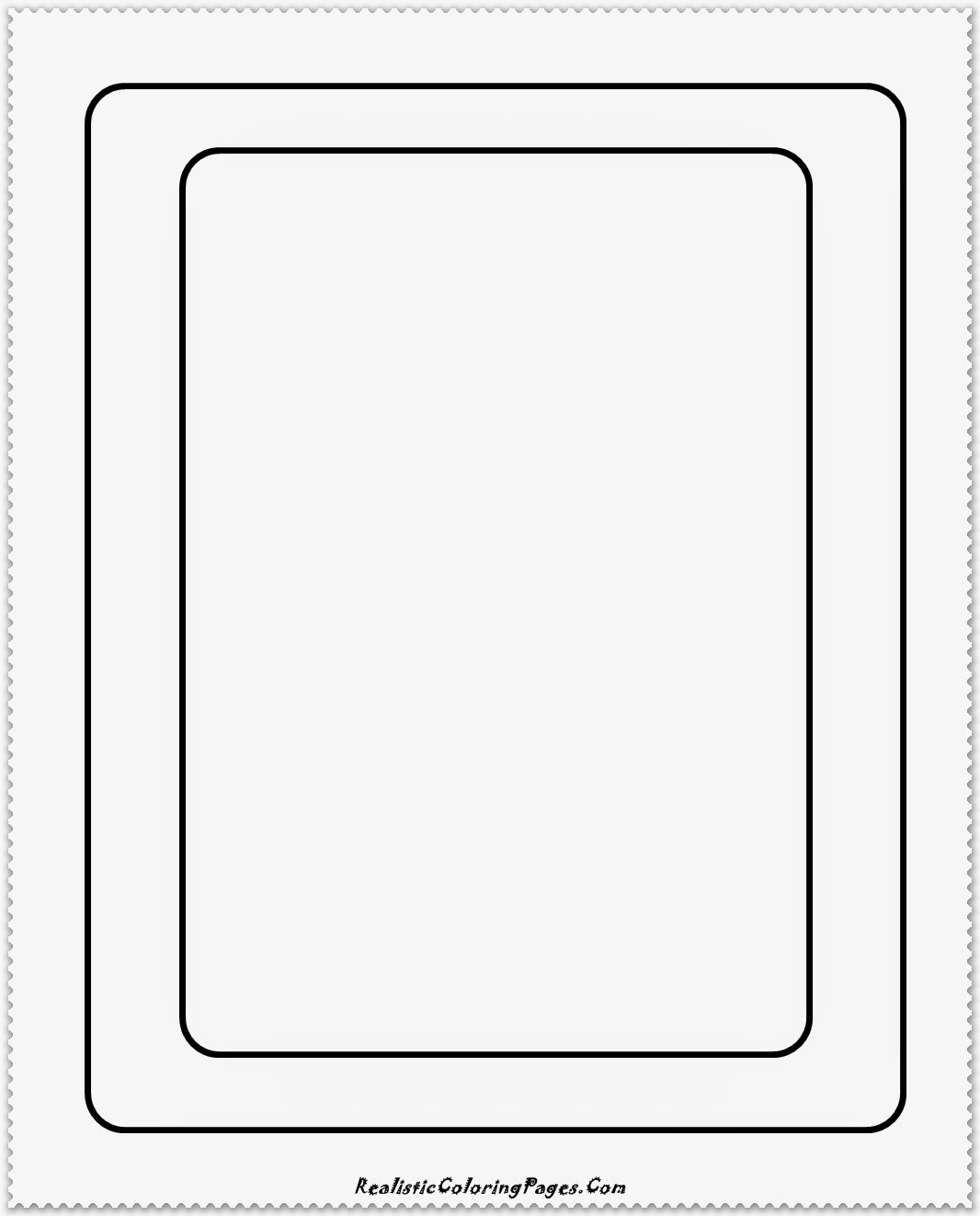 simple rounded box coloring page