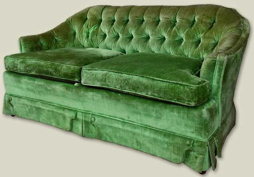 Uhuru Furniture Collectibles Retro Lime Green Loveseat 155 Sold