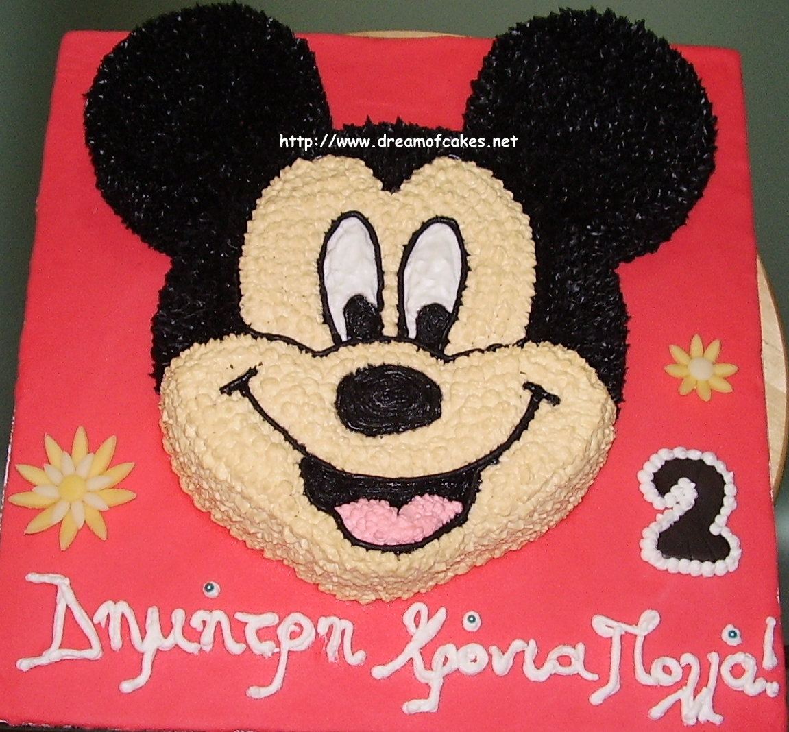 Mickey Mouse Cream Cake Images : Dream of Cakes: Mickey Mouse Birthday Cake