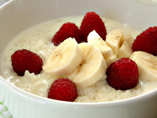 Raspberry breakfast ! Doskonały na śniadanie - ryż na mleku z malinami !