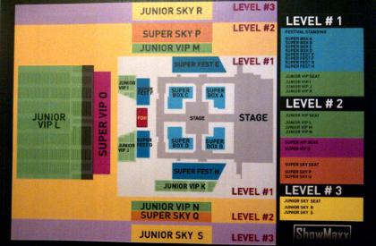 Peta Panggung Konser SUJU (Super Junior) terbaru, Harga Tiket Resmi Konser SUJU (Super Junior)  Di Jakarta Terbaru 2012