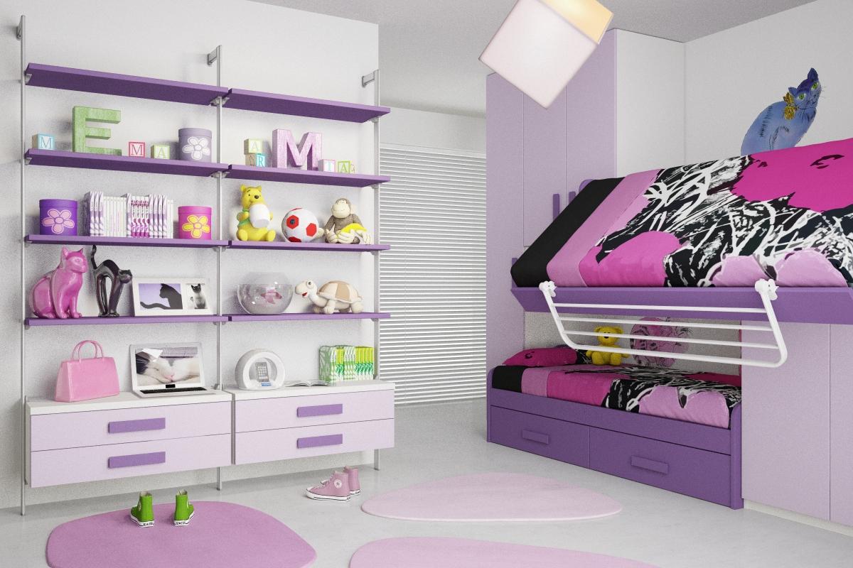 Bonetti camerette bonetti bedrooms cameretta per bambine for Camerette particolari