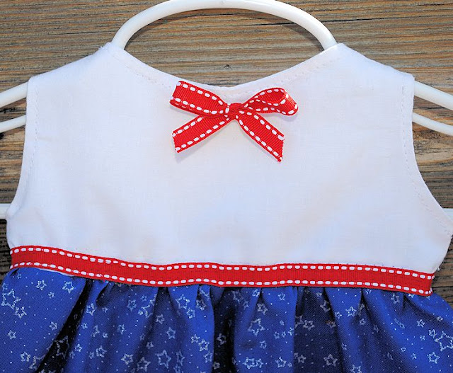 Patriotic dress pattern