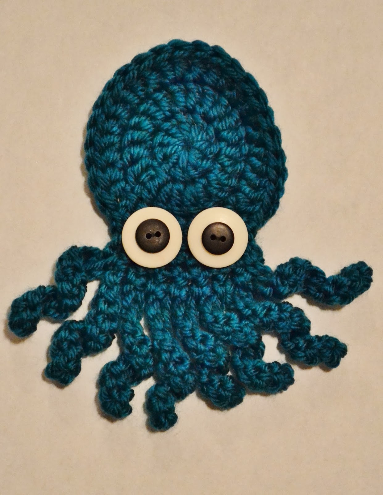 The Sequin Turtle: Basic Crochet Octopus Applique Pattern