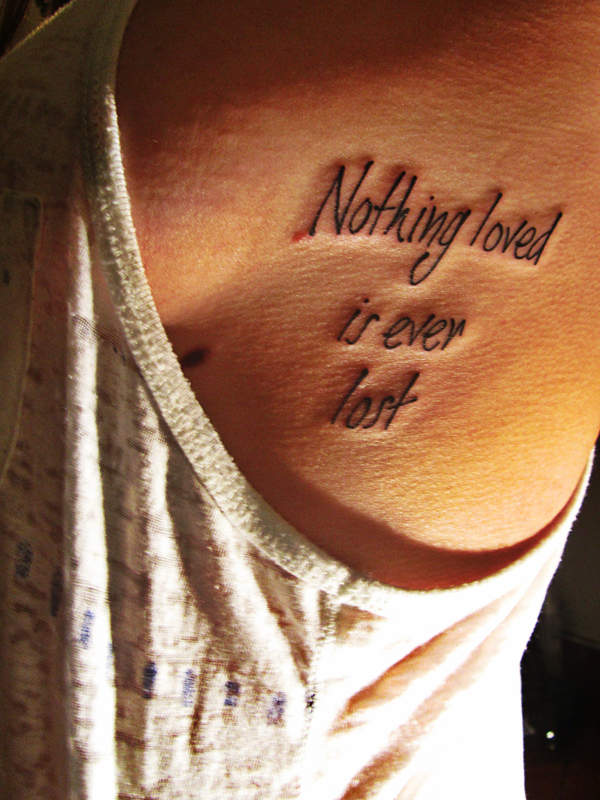 Nothing loved is ever lost