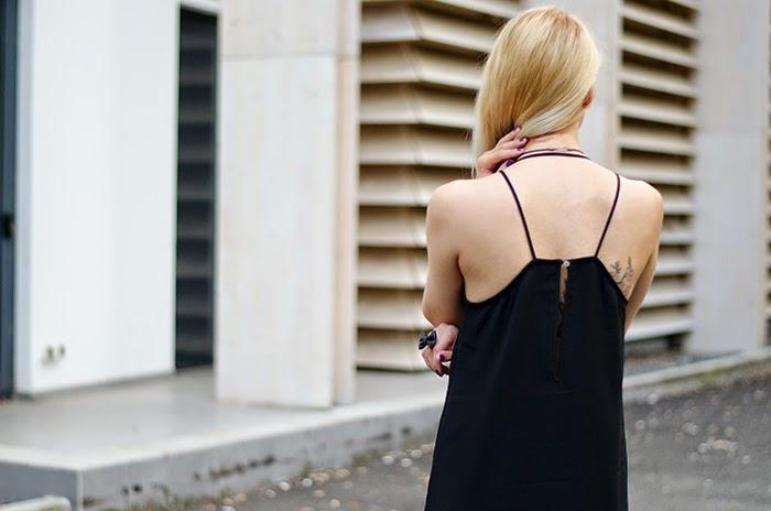 LBD H&M dress cherry blossom tattoo