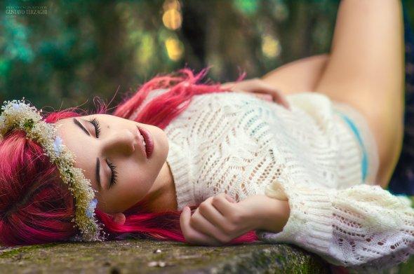 Delaia González linda modelo beleza ruiva mulher jovem fotografia por Gustavo Terzaghi