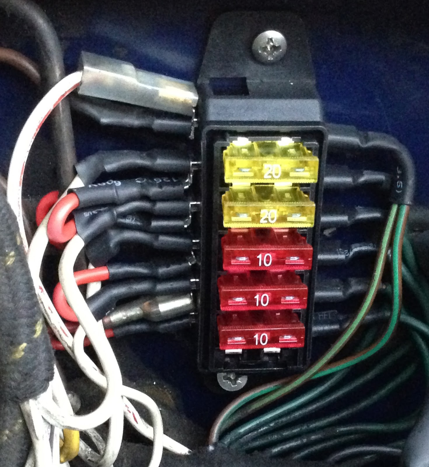 Healey%2BFuses%2B1%2BTrimmed did the austin healey wiring harness need modifying when i car fuse box at bayanpartner.co