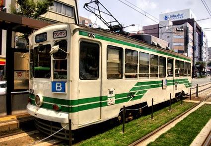 Kumamoto Tram, Kumamoto, Kyushu, Japan