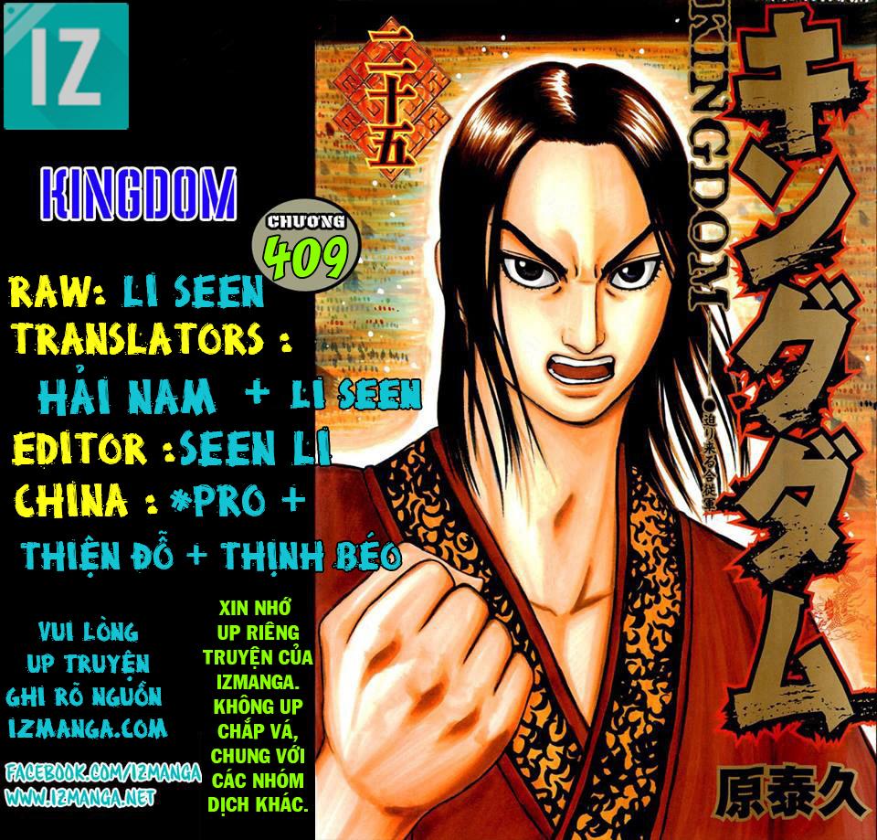 Kingdom - Vương Giả Thiên Hạ Chapter 409 page 1 - IZTruyenTranh.com