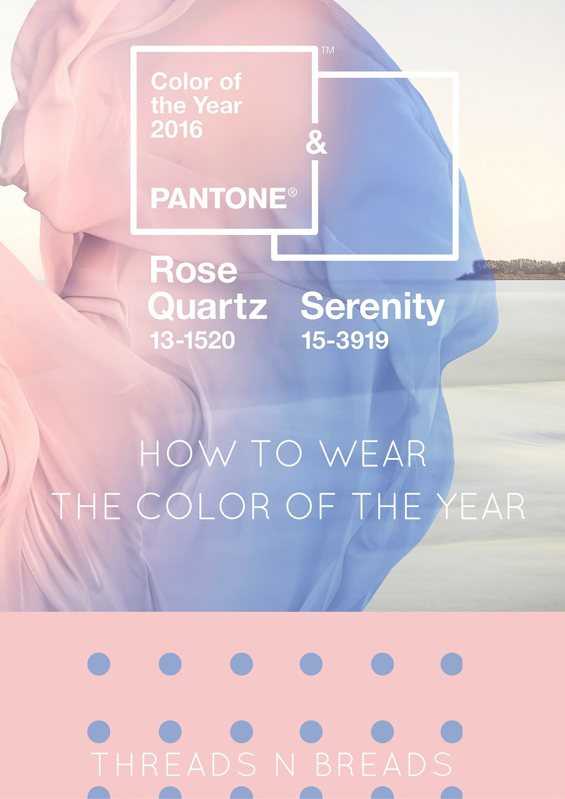 Pantone color of the year: Rose Quarts & Serenity ...