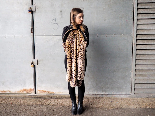 Mango Animal Print Coat