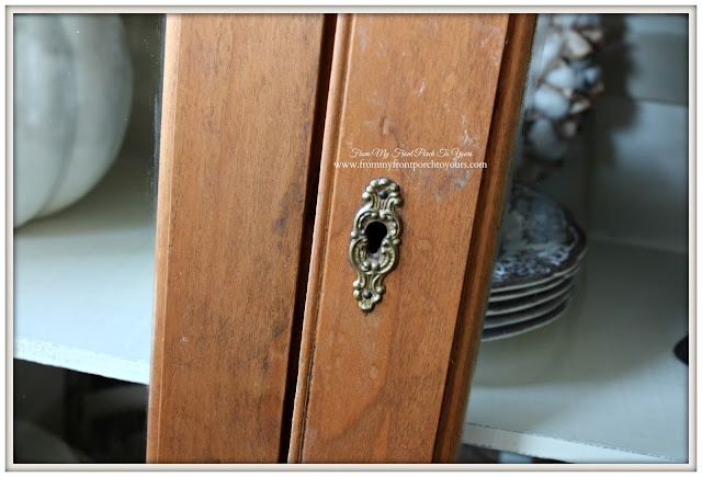 Ornate Key Hole-Vintage Pie Safe-From My Front Porch To Yours