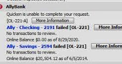 Intuit365: How to solve QL-221A error?