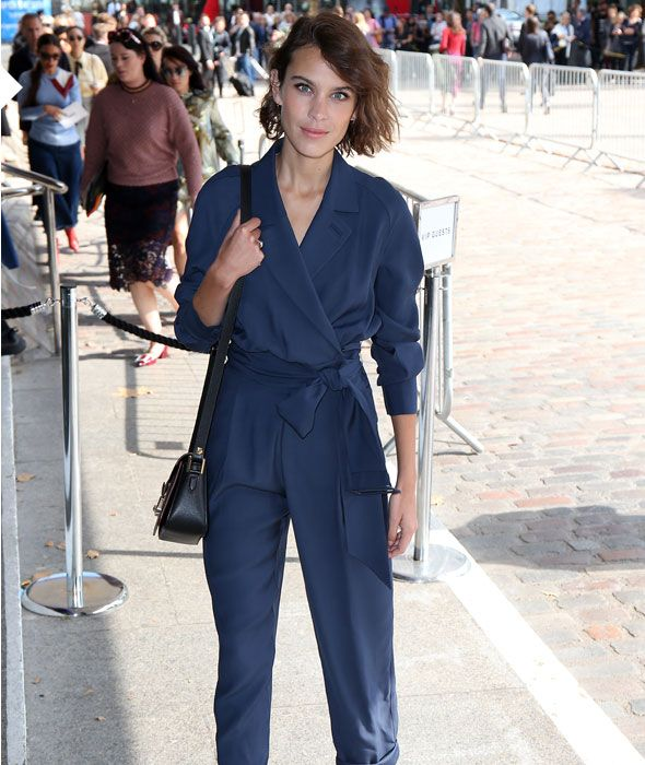 Alexa Chung's Vintage Inspired Navy Jumpsuit