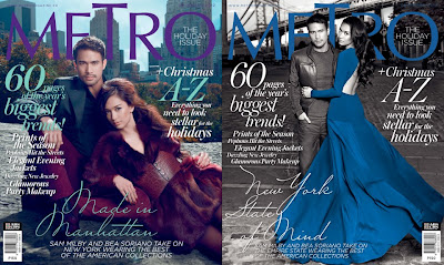 Metro Magazine December issue with Sam and Bea on two special covers