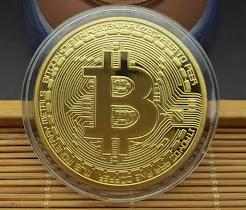 Đồng Xu Bitcoin 2 Cái Trưng Bày