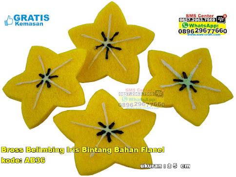 Bross Belimbing Iris Bintang Bahan Flanel murah