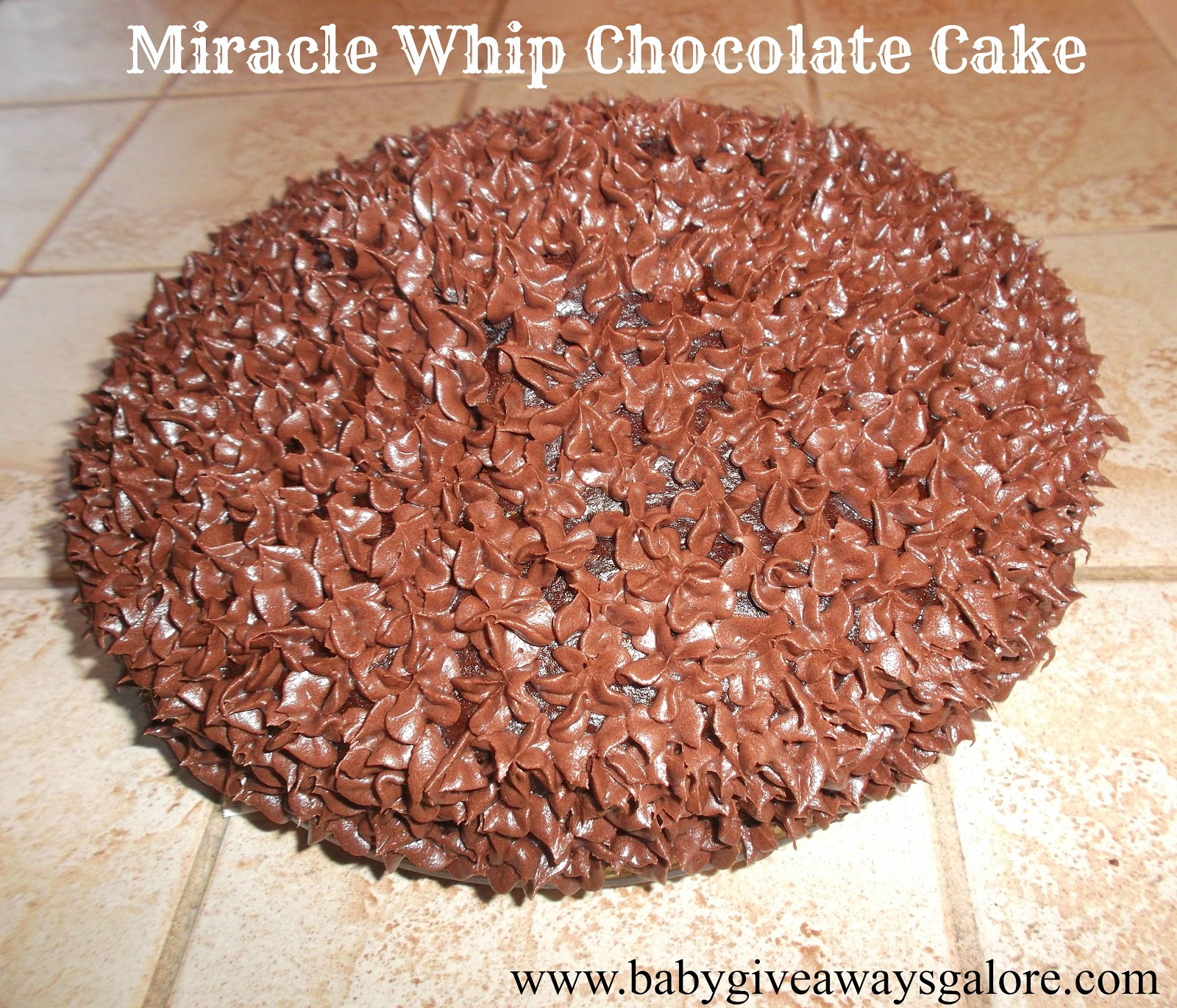 Chocolate cake recipe with miracle whip