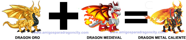 como conseguir el dragon metal caliente en dragon city combinacion 3
