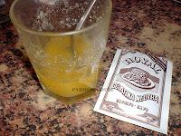 zumo naranja y gelatina