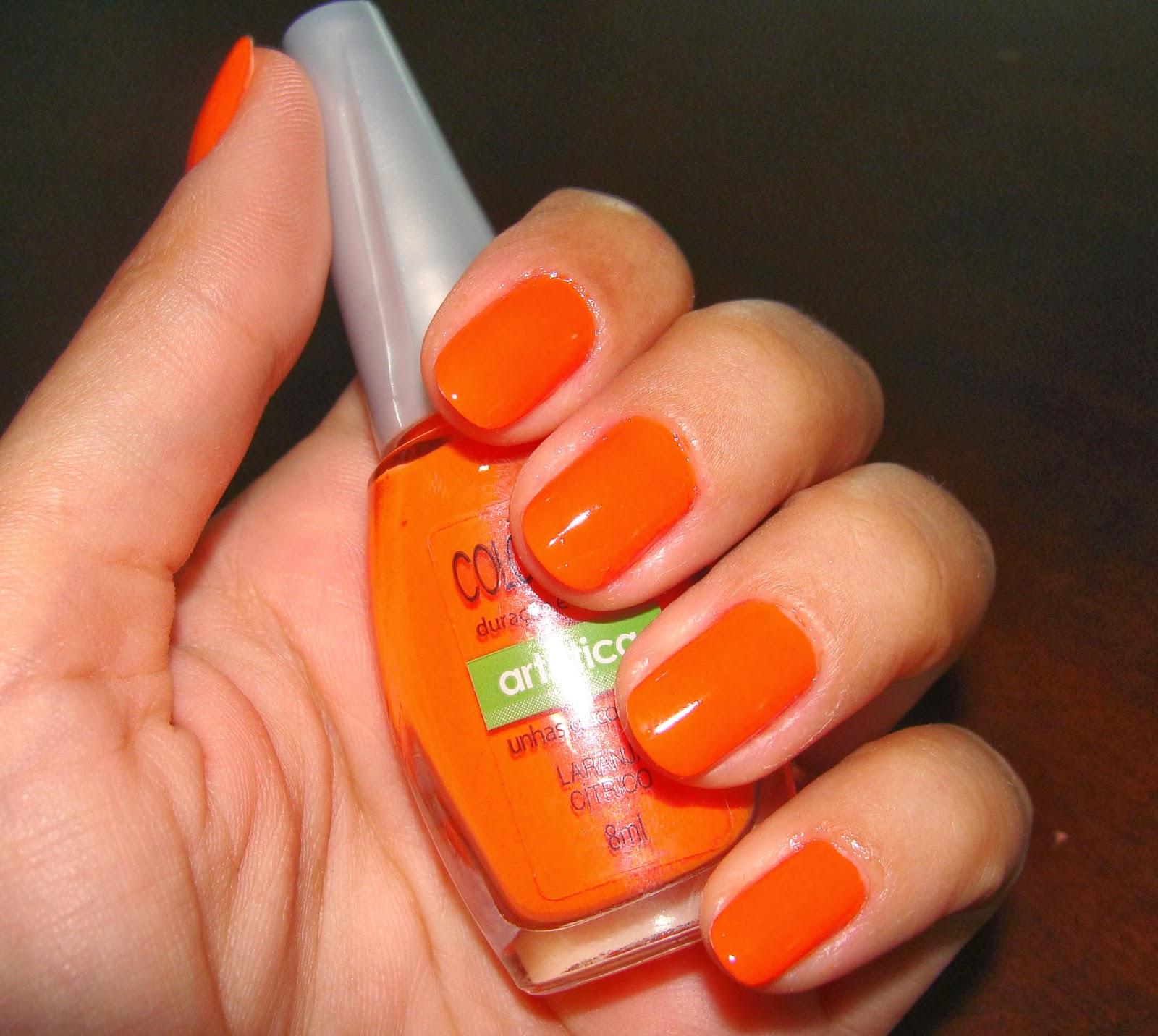 unhas laranja