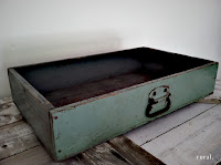 vintage drawer green blue