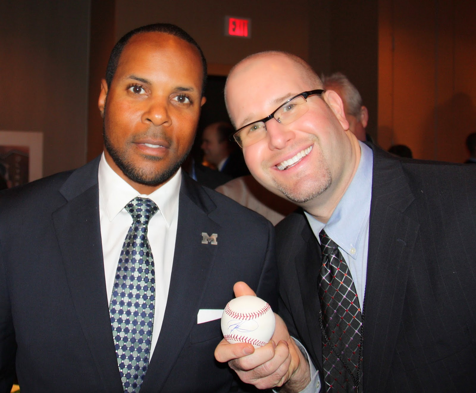 Rabbi Jason Miller and Baseball Hall of Fame Shortstop Barry Larkin