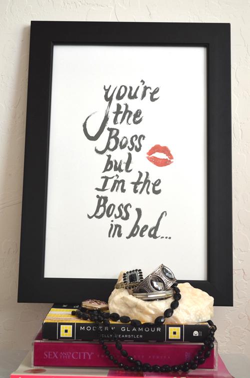 Happy Valentine's Day Gift Idea, Happy Anniversary Gift Idea, True Love Art Print, The Boss Art Print, Black and White Art Print, Modern Art Print, Minimalist Art Print, Home Decor Art Print