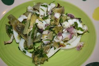 insalata seppie carciofi