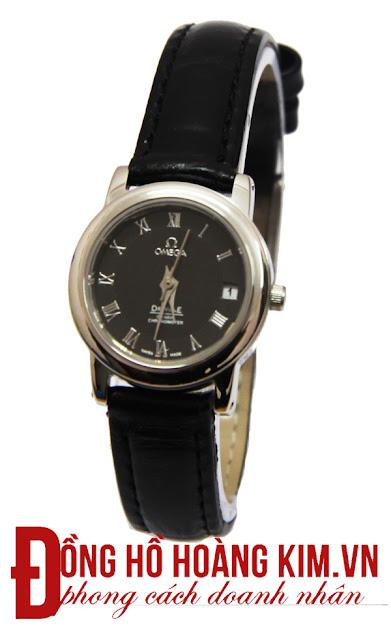 Đồng hồ nữ dây da giá rẻ omega