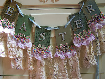 diy Easter blessing garland