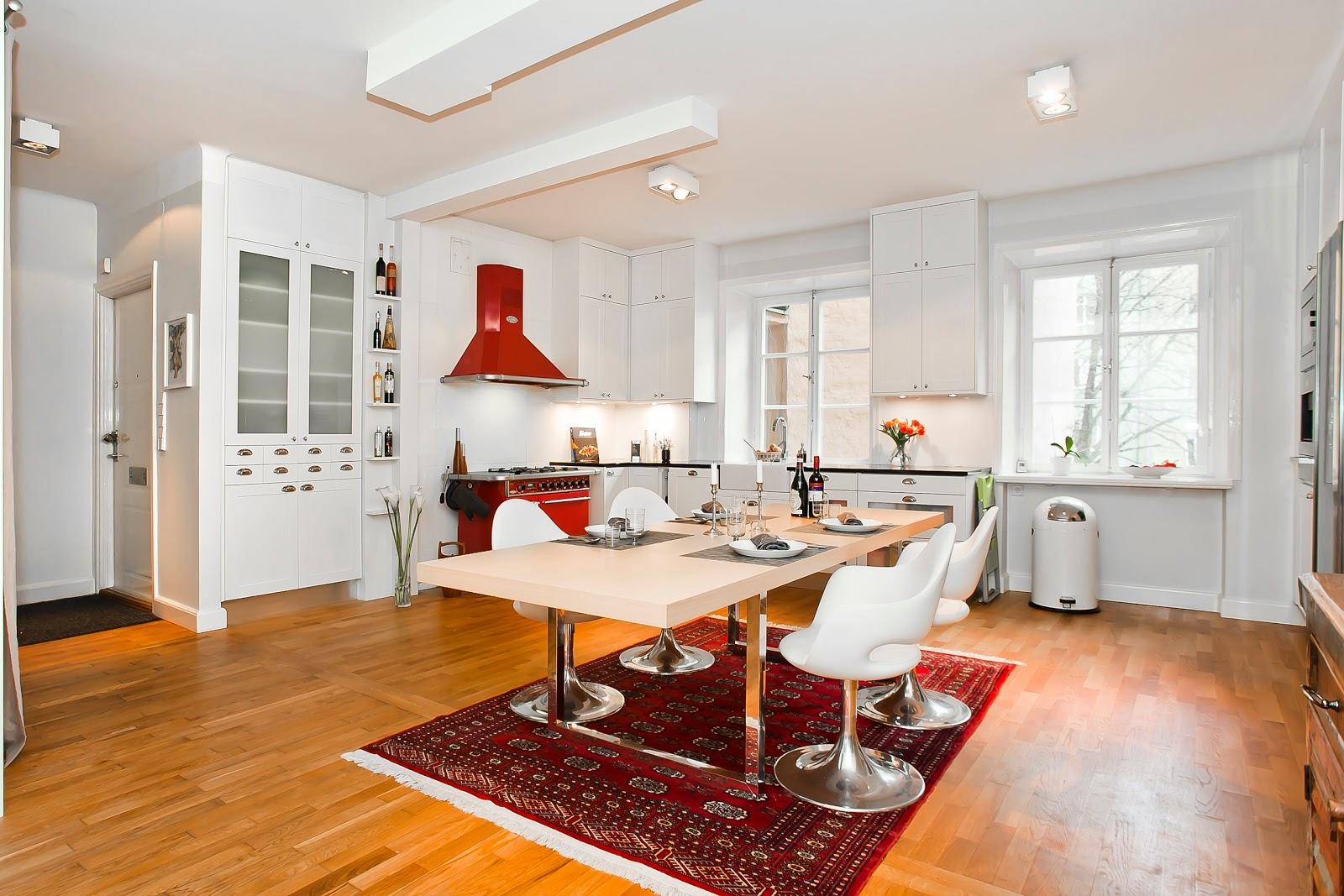 El inevitable blanco en las cocinas escandinavas cocinas con estilo - Cocinas lacadas en blanco ...