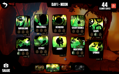 Badland game: Level selection