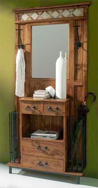 La web de la decoracion y el mueble en la red muebles - Mueble recibidor rustico ...