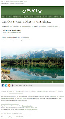 Mar. 9, 2012 Orvis email with images on