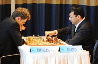 Echecs à Monaco : ronde 8 - Levon Aronian 1-0 Vishy Anand