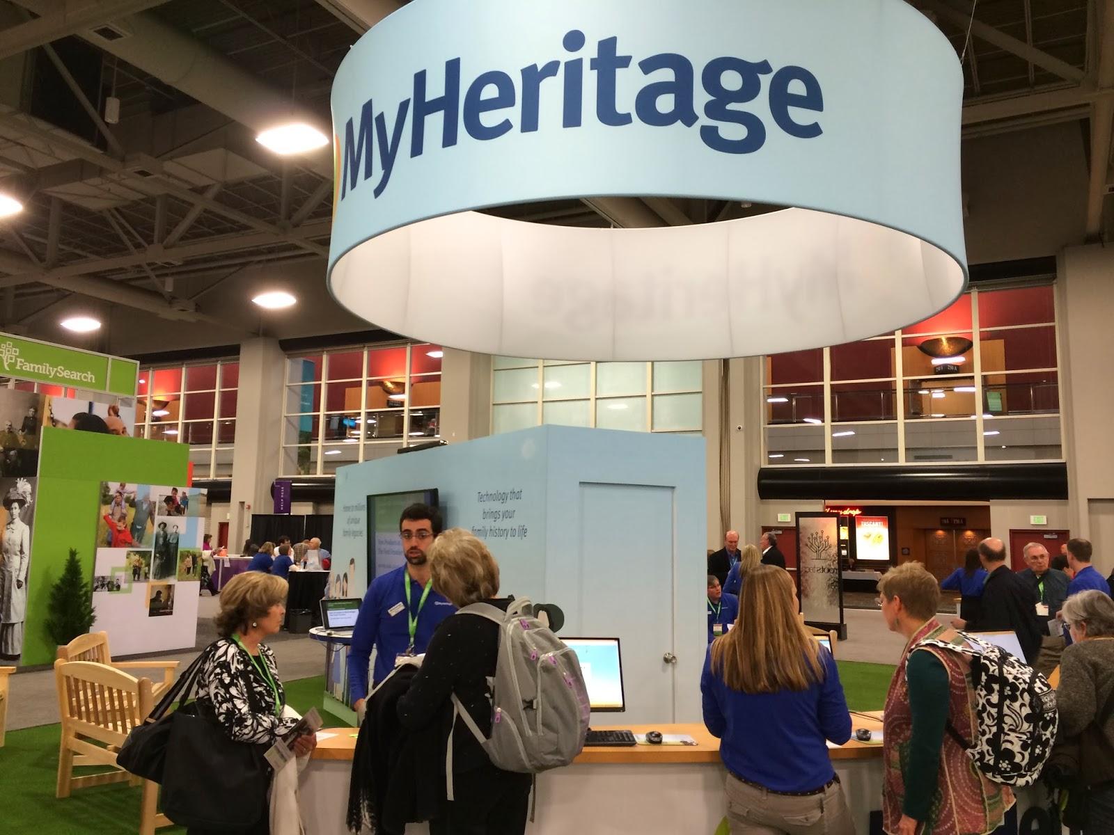 MyHeritage Exhibit in Expo Hall