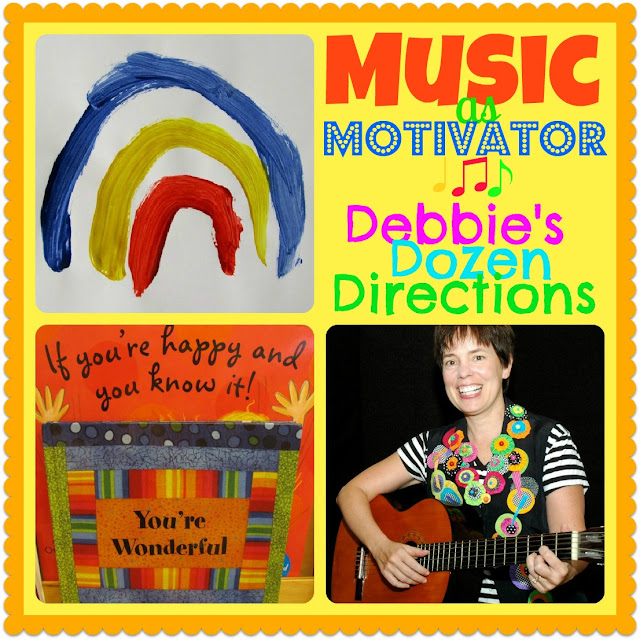 MUSIC as Motivator: Debbie's Dozen Directions, top 12 suggestions from Debbie Clement