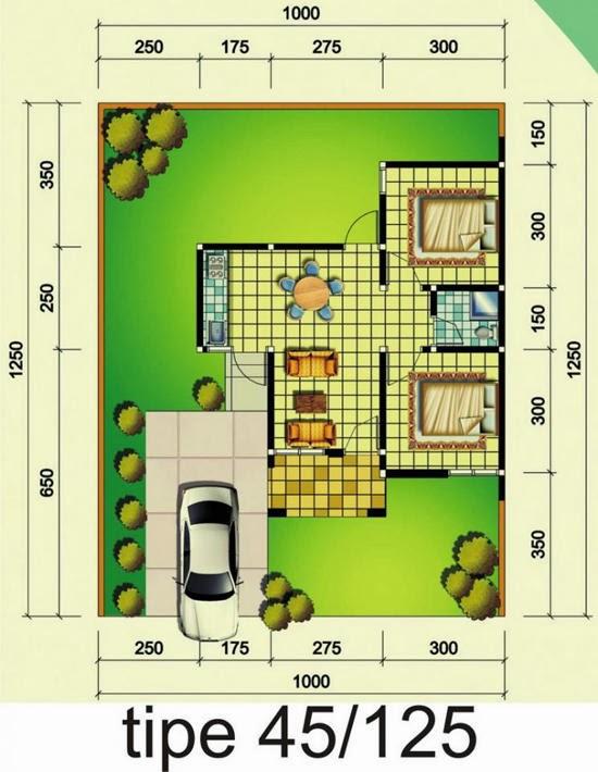 Contoh gambar Rumah type 45