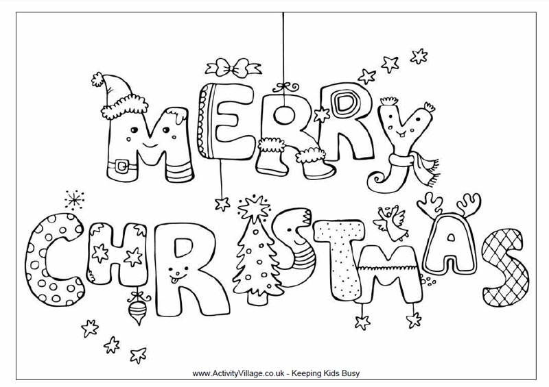 Merry Christmas Coloring Page Twisty Noodle - merry christmas coloring pages