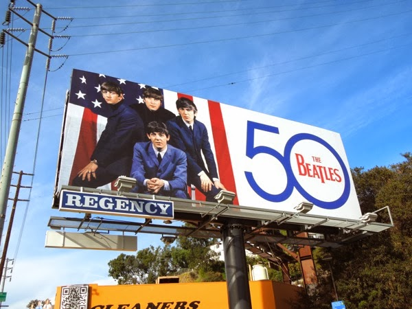 The Beatles 50th anniversary music billboard