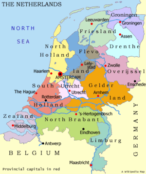 April 2013  Map of Netherlands Holland Nederland Cities Pictures