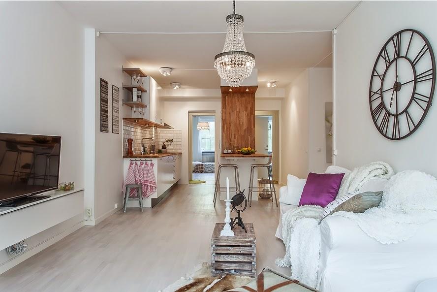 Un piso 3 en 1 industrial n rdico y con aire vintage for Dormitorio estilo nordico industrial