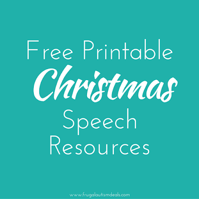 Free printable Christmas themed speech therapy resources & games