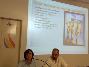 Conferencia: MUJERES ANARQUISTAS Y FEMINISTAS en la XII SEMANA DE LA MEMORIA HISTÓRICA
