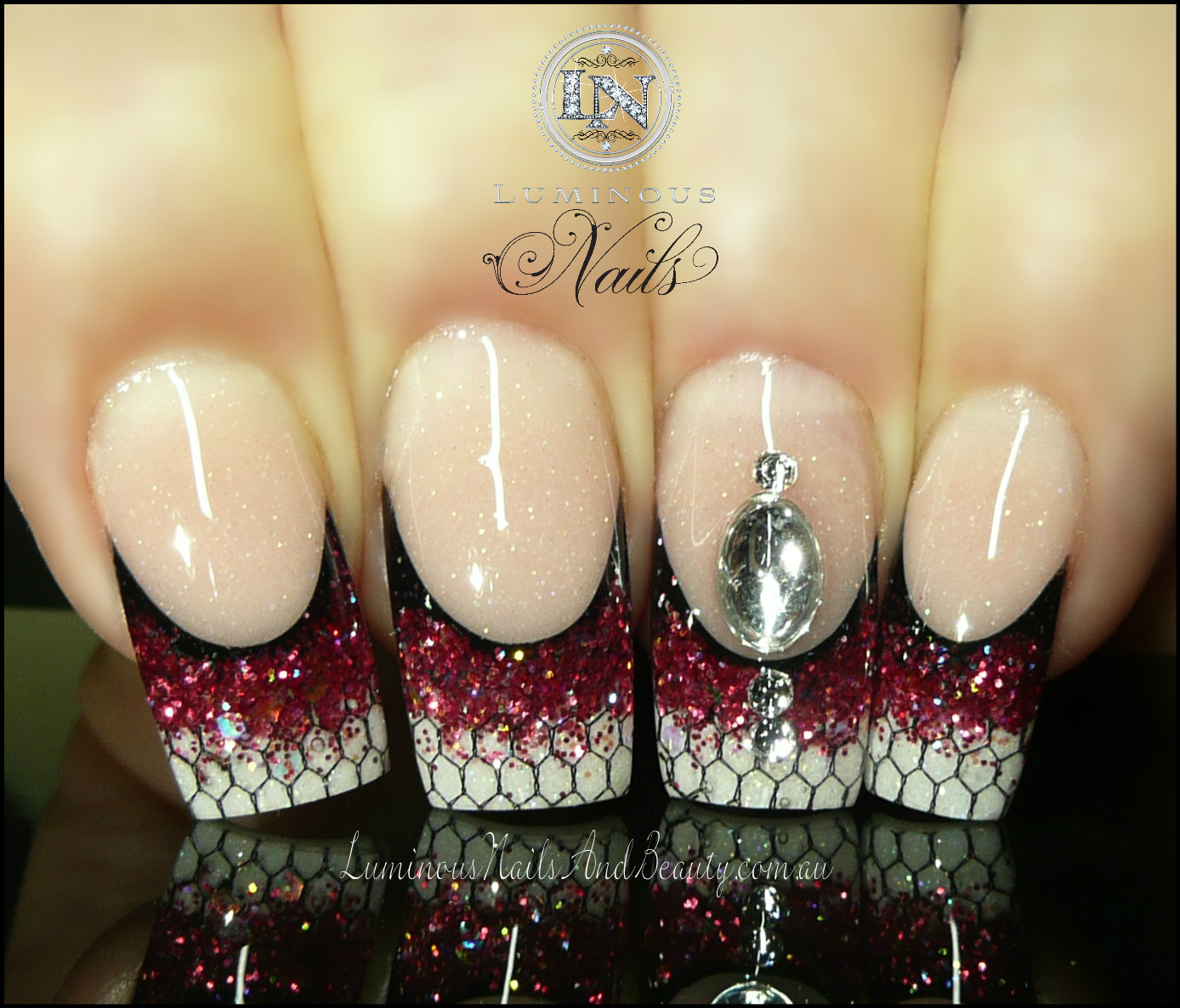 The Enchanting Gold acrylic nail designs Digital Photography